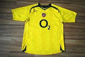 ARSENAL LONDON 2005-2006 FOOTBALL SOCCER SHIRT JERSEY AWAY NIKE ORIGINAL SIZE XL