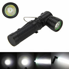 1000LM Waterproof CREE Q5 LED 90 Degree Pivoting Flashlight Torch Light 3Mode AA