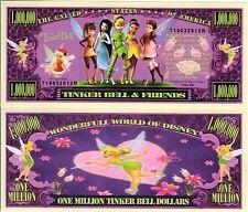 Tinkerbell & Friends -Disney Cartoon Series Million Dollar Novelty Money