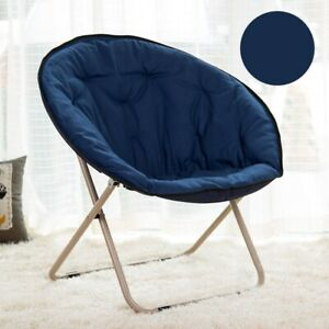 Folding Camping Chair PADDED MOON CHAIRS Garden Outdoor Festival Round Camping