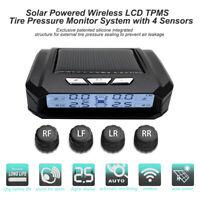 Kabellos Solar Externe + 4 Sensor Autoreifen Reifendruck TPMS Kontrollsystem