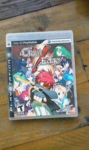 LIKE NEW - Cross Edge - Playstation 3 PS3 Game - MINT Complete