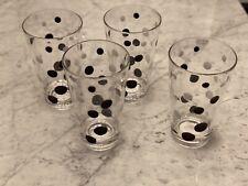 Acrylic Unbreakable Drinkware Barware - Set Of 4 Tumblers Glasses Polka Dot