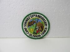South Florida Council Camp Seminole 20th Anniversary Boy Scouts Patch pin3775