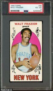 1969 Topps Basketball #98 Walt Frazier Knicks RC Rookie HOF PSA 4 VG-EX