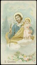 antico santino cromo-holy card S.GIUSEPPE
