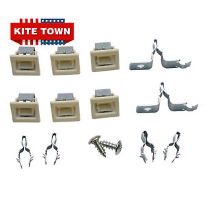 2 Pack Dryer Door Catch Strike Latch Kit for Whirlpool 279570 AP3094183 PS334230