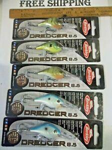 LOT OF 5 BERKLEY DREDGER 8.5 NIP MIXED COLORS CRANKBAITS FISHING LURES