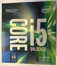 Intel Core i5 7600K - 3.8GHz Quad Core 6MB Cache Socket 1151 Retail Box SEALED