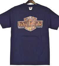 Genuine Harley Davidson Men's Blue Dealer T-Shirt Charred Robin Hood