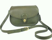 COACH Vintage Green Leather Prairie Shoulder Crossbody Bag #9954 RARE