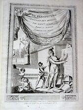 SOBRO Traité Perspective Artistes 76 PLANCHES ARCHITECTURE DESSIN RARISSIME 1780