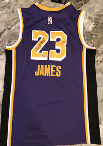 Los Angeles Lakers Jersey Signed Autographed LEBRON JAMES W/COA and Hologram