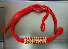 Lucky Hindu red thread stunning Rhinestones Bracelet Talisman Protection Amulet