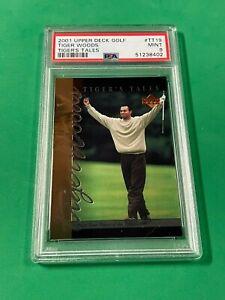 2001 Upper Deck Golf Tiger Woods #TT-19 Tiger's Tale RC PSA 9 MINT PGA CHAMPION!