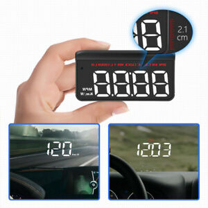 High-definition Car HUD Head-up Display Meter Projector KM/H MPH Universal Black
