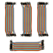 4pk 40-Wire Male-Male Jumper Wire 20cm; 40P Color Ribbon Breadboard Cable USA