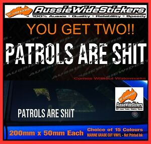 Funny Car Stickers For TOYOTA LANDCRUISER Hilux Turbo Diesel 4x4 ARE SH*T 200mm