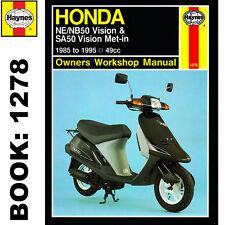 Honda NE50M NB50M Vision SA50 Vision Met-in 1985-95 Haynes Workshop Manual