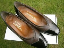 Ladies Brown Patent/softy Leather Shoes by PANDORA UK Size 5 .