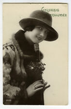 1920s French Deco Glamour Lady FASHION FLAPPER glamor RPPC photo postcard