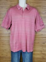 Nike Tiger Woods Collection Pink Polo Shirt Mens Size Large L