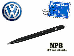 VW Genuine Volkswagen Logo Ballpoint Pen  Black