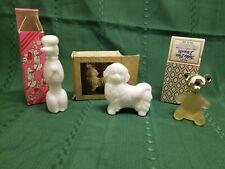 Lot of 3 Vintage Avon decanters Bon Bon Poodle Royal Pekinese Teddy Bear Nib