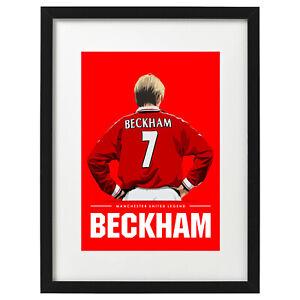 David Beckham Manchester United legend art print / poster