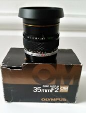 Olympus Zuiko 35mm f2 lens boxed, excellent condition. For OM series. 155936.