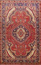 Vintage Geometric Tebriz Traditional Area Rug Hand-Knotted Oriental Carpet 7x10