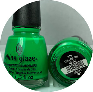China Glaze Nail Polish KIWI COOL-ADA 876 Bright Neon Green Creamy Lacquer