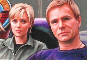 ACEO Original ~ Jack O'Neill & Sam Carter ~ Stargate 1