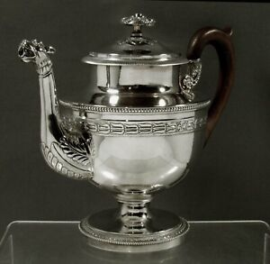 Anthony Rasch Silver Teapot          c1825 NEW ORLEANS