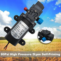 12V 5L/Min High Pressure Micro Diaphragm Water Pump 80Psi For Car Caravan Boat
