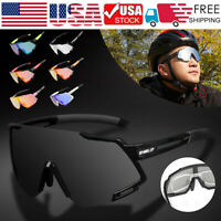 Polarized Cycling Sunglasses UV400 Anti-Fog Bike Glasses Goggles Sports Eyewear