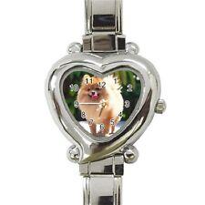 Nice Italian Watch : Nice Dog Pomeranian Puppy Puppies Heart Italian Charm Watch