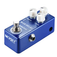 MOSKY Analog Delay Guitar Effect Pedal Deep Blue Delay Sound Repeat Level Button