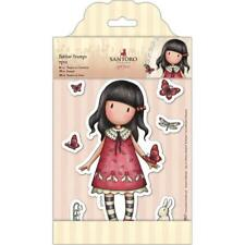 Gorjuss Girl SANTORO Cling Unmounted Rubber Stamp Set Time To Fly GOR 907219 NEW