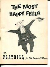 Robert Weede Jo Sullivan Art Lund Shorty Long The Most Happy Fella 1956 Playbill