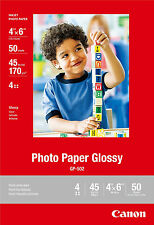 Genuine Canon 4x6 GP502 50 glossy photo paper MG5420 MG5320 MG4220 MG4120 MG3520