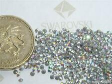 60 x Preciosa 4ss / 10pp Crystal AB silver-foiled chatons
