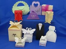 10 3D Die cut Gift Wedding favour boxes sample pack gift party christening