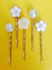 Wedding Hair Accessories Hair Grip Bobby Pin Hair Clip Bridesmaids Pearl-5 Pcs