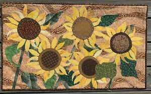 Faces of Summer - Art Quilt Wall Hanging - sold by artist