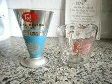 Collection Vintage Tala Cooks Measure Cone & Anchor Hocking Glass Measure Jug