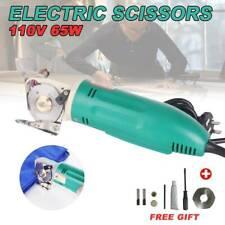 Pro Electric Fabric Cutter Round Blade Scissors Leather Cutting Machine New 110V