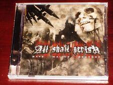 All Shall Perish Hate Malice Revenge CD ECD 2005 Nuclear Blast USA NB 1401-2 NEW