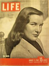 "LIFE Aug 11, 1947  India/Pakistan separation, Bikini Atom bomb test ""Queen Mary"""