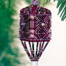 Plum Tassel Beaded Stitched Christmas Ornament Kit Mill Hill 2001